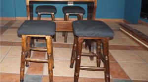 Vendo bancos altos para barra de madera posot class for Vendo bar de madera