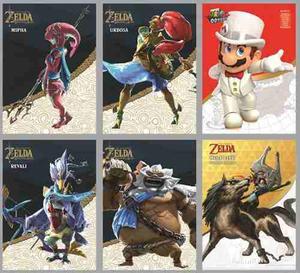 Amiibo Card Zelda Botw Campeones (mipha, Urbosa, Daruk, Rev