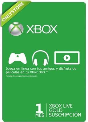 Membresia Microsoft Xbox Live Gold 1 Mes - Xbox One Y 360