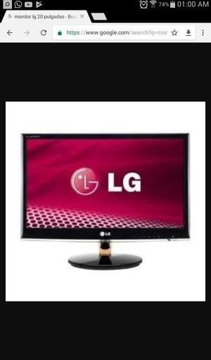 Vendo Monitor Lg Perfecto Estado D3 19 P