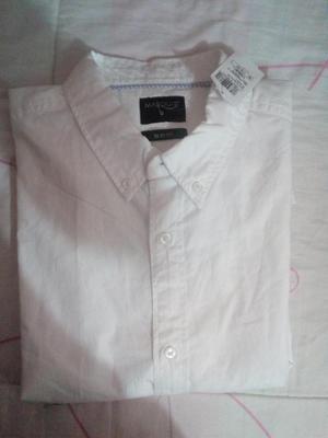 camisa blanca slim fitsport nueva talla s