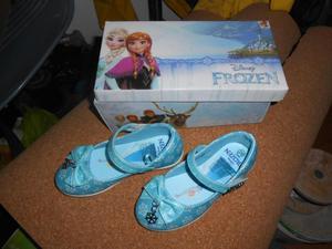 remato zapato azul para niña talla 26 FROZEN