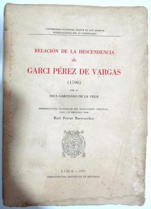 Relación de la descendencia de Garci Pérez de Vargas.