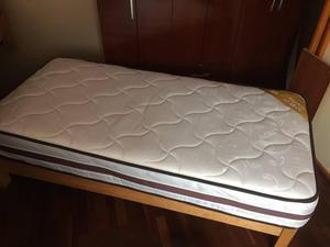 Tarima de 1 plaza de madera con cajones posot class for Tarimas de madera para cama