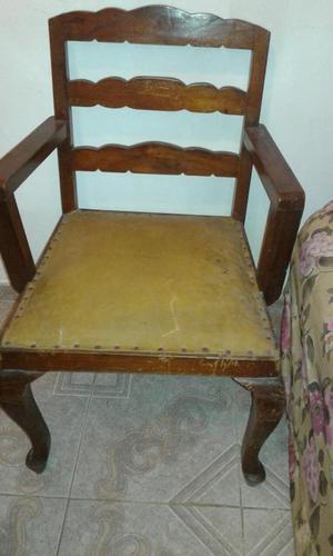 antigua silla patas de cuchara para tapizar