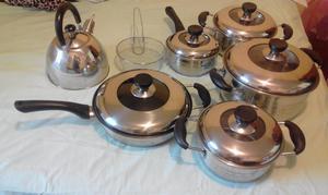 a la venta juego de ollas de acero inoxidable