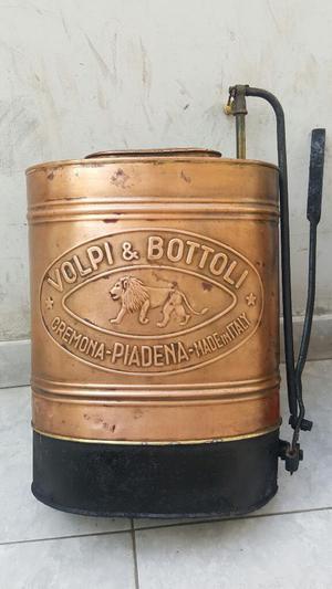 Antiguo Fumigador de Cobre Volpi Y Bottoli Cemona Made In