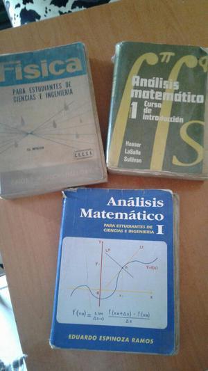 Libros de Analisis Mat. Y Física