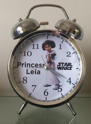Reloj Despertador Estilo Vintage Star Wars Princesa Leia