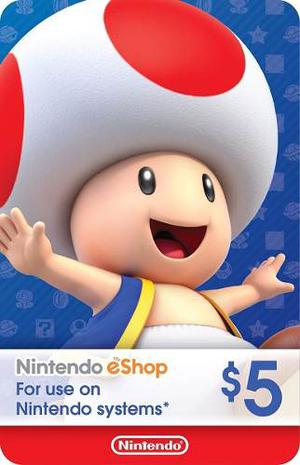 Eshop / Ecash Saldo 5$ Nintendo Usa