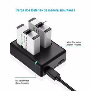 Kit 2 Baterías Y Cargador Dual Powerextra Gopro Hero 5
