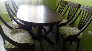 Comedor de madera mesa 6 sillas posot class - Mesa comedor 6 sillas ...