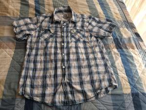 Camisa Hombre Manga Corta Rayas Talla Xl Poco Uso