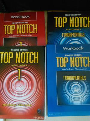 Libro Top Notch Fundamentals y Top Notch 1 usado