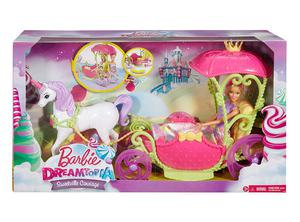 Barbie Villa caramelo con carruaje y unicornio NUEVO