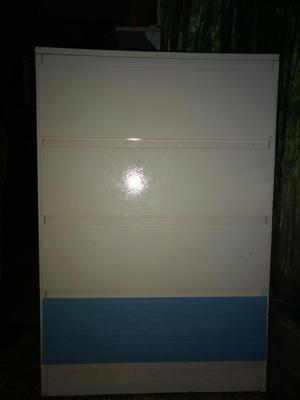 Comoda Azul Y Blanco Cuatro Cajones