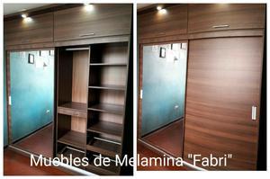Roperos Melamina Personalizados18 Mm!!
