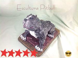 Escultura Pitbull