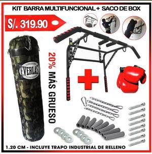 KIT DE BOXEO Y DOMINADAS maquinas de ejercicios boxeo