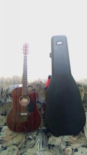 Vendo Por Viaje Guitarra Electroacustica Fender Case Gator