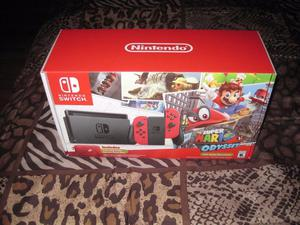Paquete Nintendo Switch 32GB Super Mario Odyssey edition red