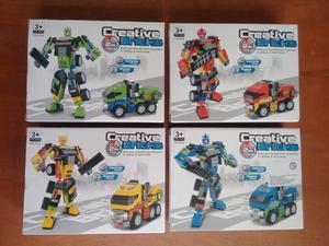 Robot 2en1 Camion 119 Piezas 4 Colores Armable Alterno Lego