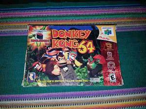 Donkey Kong 64 Con Caja Y Manual