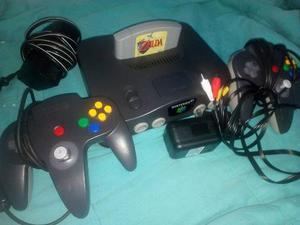Nintendo 64 Consola Original 2mandos+ The Legend Of Zelda