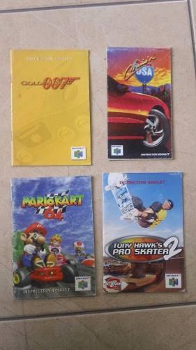 Nintendo N64 Manuales Mario Kart