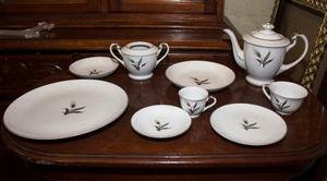Vajilla De Porcelana Antigua Siglo Xlx