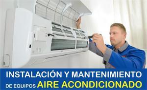AIRE ACONDICIONADO INSTALACION DE EQUIPOS, MANTENIMIENTO,