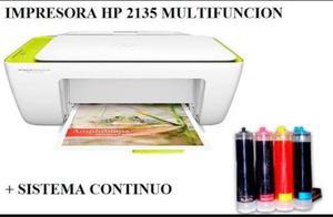 Impresora Hp  Con Sistema De Tinta Continua Instalado.