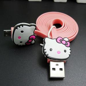 Cable Usb Y Datos Para Android Hello Kitty