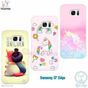 Case Carcasa Funda Celular Unicornio Samsung S7 Edge