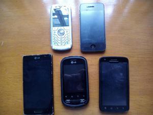 Celulares Iphone, LG y Motorola