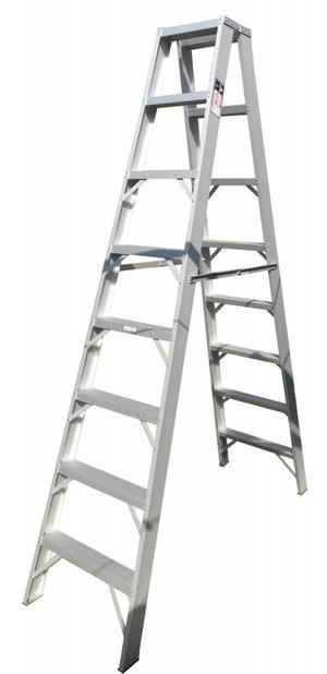Escalera tijera doble de madera 12 pasos posot class for Escaleras 8 pasos