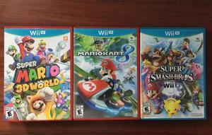 Juegos Wii U - Smash Bros, Mario Kart 8, Mario 3d World