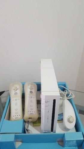 Nintendo Wii En Caja Completo (incluye 14 Juegos)