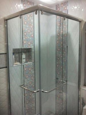 Puerta de ducha de aluminio natural y dorado posot class - Puerta mampara ducha ...