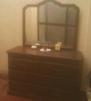 Comoda o tocador de madera con espejo de 7 cajones oferta - Comoda con espejo ...