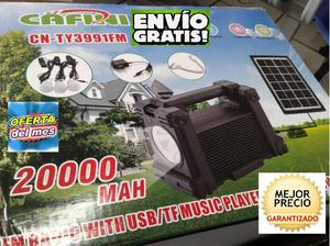 Kit Solar Portátilpanel Solar3 Focosradio Fmreprod Usb