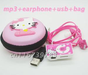 Reproductor Mp3 Hello Kitty Rectangular con Estuche