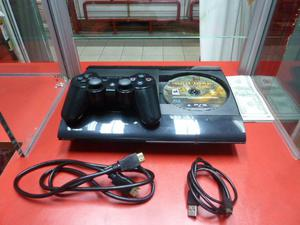 Play 3, Ps3 SUPER Slim 12 Gb Mando Original Cable Hdmi