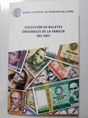 Folleto Con 11 Billetes Intis Originales (unc)