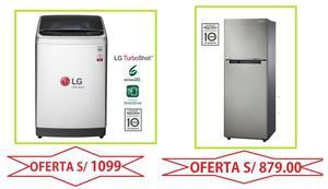 refrigeradora Samsung y lavadora LG 12.5 motor directo