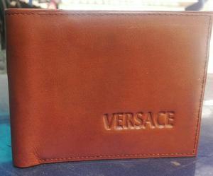 Billeteras de Cuero con Sello Versace
