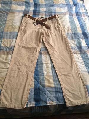 Pantalón Norwest Hombre Talla 34 X 32 Crema con Correa de