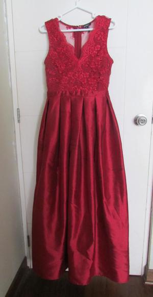 Vestido de Fiesta Largo Rojo Vino
