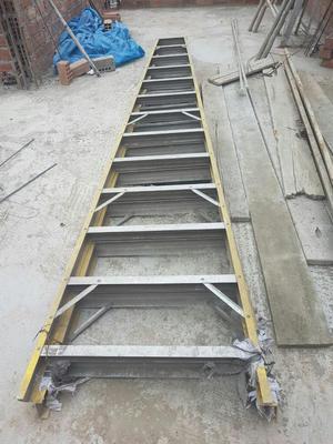 Escalera tijera doble de madera 12 pasos posot class for Escalera tijera de madera