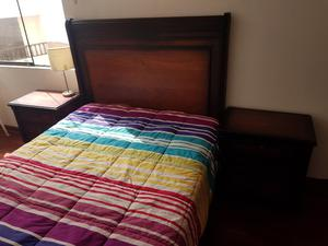 Vendo juego de dormitorio cama 2 plazas posot class for Juego de dormitorio queen